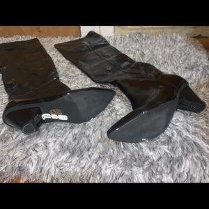 Jeffery Campbell Black Crinkle boots